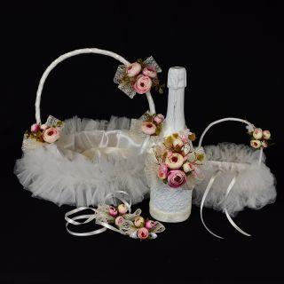 Сватбен Комплект с божури №22