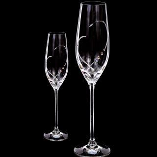Чаши с камъни SWAROVSKI HEART