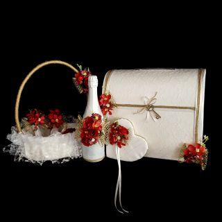 Сватбен комплект Red №8